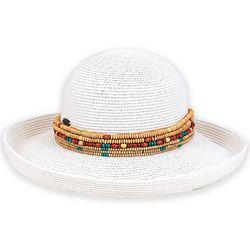 Sun N' Sand Womens Multi-Row Bead Trim Sun Hat