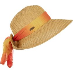 Womens Ombre Chiffon Scarf Sun Hat