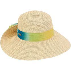 Caribbean Joe Womens Ombre Chiffon Scarf Sun Hat