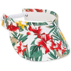 Womens Tropical Floral Visor