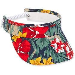 Womens Dark Tropical Floral Visor