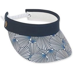Caribbean Joe Womens Seashell Print Visor