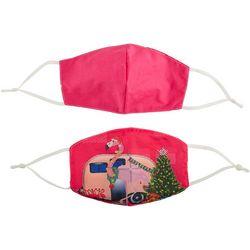 Womens 2-pk. Flamingo Trailer Face Masks