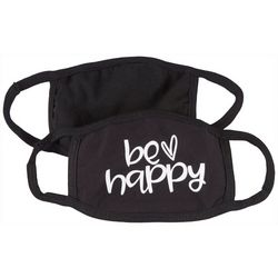 2-Pc Be Happy Reusable Face Mask Set