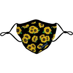 Sunflower Print Reusable Face Mask Adult