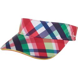 Lillie Green Womens Plaid Visor