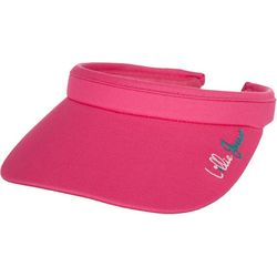 Lillie Green Womens Solid Clip Visor