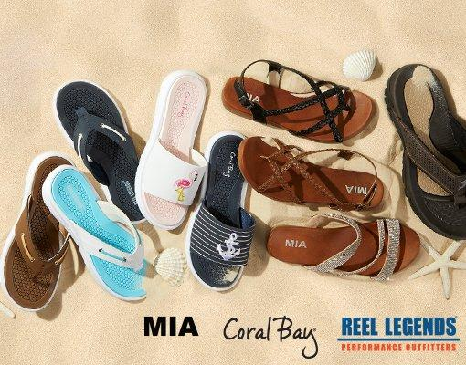 Sandals from MIA, Coral Bay & Reel Legends