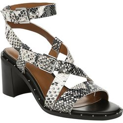 Franco Sarto Womens Halina Snake Dress Sandals