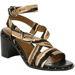 Franco Sarto Womens Halina Calf Hair Sandals