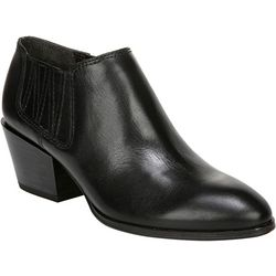 Franco Sarto Womens Dylann Leather Ankle Booties