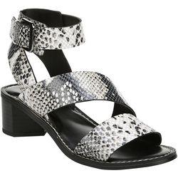 Franco Sarto Womens Kaelyn Snake Heeled Sandals