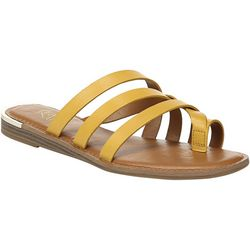 Franco Sarto Womens Goddess Slide Sandals