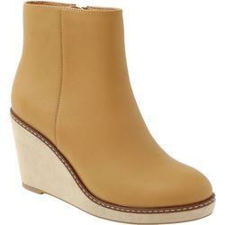 Kensie Womans Hatley Wedge Ankle Boots