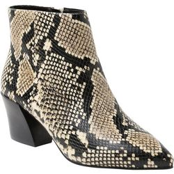 Kensie Womans Leticia Snake Ankle Boots