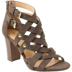 XOXO Womens Briannah Double Buckle Heels
