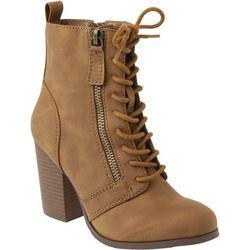 XOXO Womens Menton Combat Style Boots