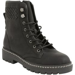 XOXO Womens Pascal Combat Style Boots