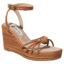 2 Lips Too Womens Too Wendy Braided Wedge Sandals
