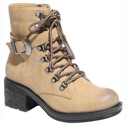 2 Lips Too Womens Too Ration Buckle Boots