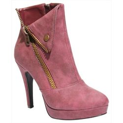 2 Lips Too Womens Too Snapped Zippered Bootie