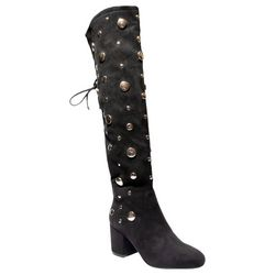 2 Lips Too Womens Too Lucia Studded Tall Boots