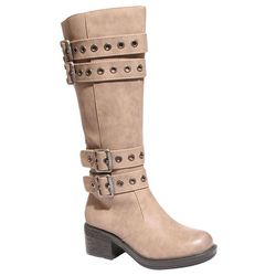 2 Lips Too Womens Too Jordon Buckle Tall Boots