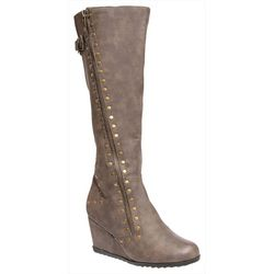 2 Lips Too Womens Too Noa Studded Tall Boots