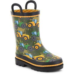 8b3d780ca2206 Western Chief Little Boys Tractor Tough Rainboots