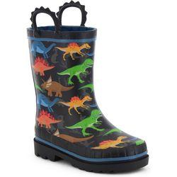 Western Chief Toddler Boys Dino World Rainboots