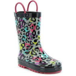 Western Chief Girls Groovy Leopard Rain Boots