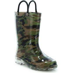 Western Chief Boys Lighted Camo Rain Boots