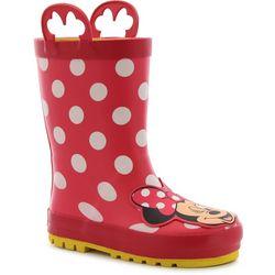 Disney Minnie Mouse Toddler Girls Rain Boots