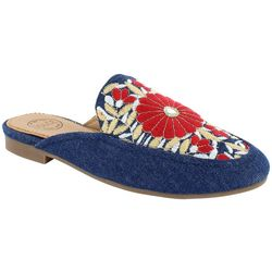 Dolce by Mojo Moxy Womens Embroidered Mules