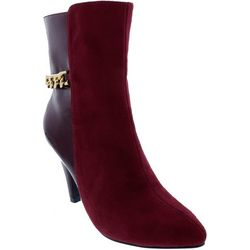 Bellini Womens Chain Ankle Boots