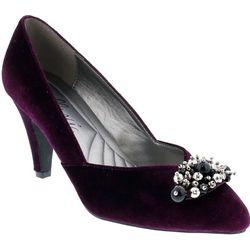 Bellini Womens May Pearl Cluster Heels