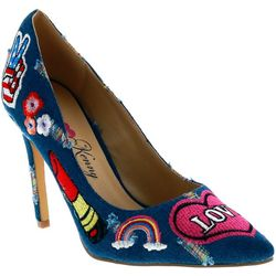 Penny Loves Kenny Womens Mixed Denim Pumps