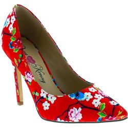 Penny Loves Kenny Womens Opus Floral Satin Pump