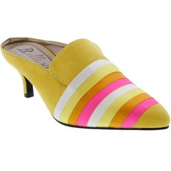 Bellini Womens Pixie Bob Striped Heeled Slides
