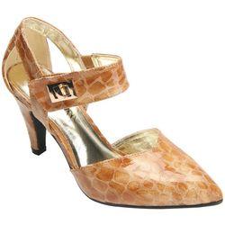 Bellini Womens Magic Buckled High Heel Shoes