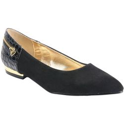 Bellini Womens Nova Gold Accent Flats