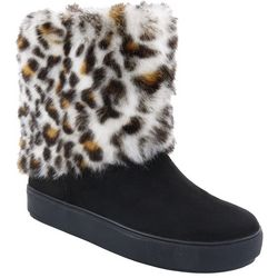 Penny Loves Kenny Womens Artful Faux Fur Boots