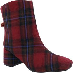 Penny Loves Kenny Womans Tuck Plaid Boots