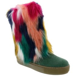 Penny Loves Kenny Womens Airbrush Faux Fur Boots