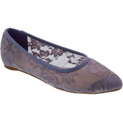 Penny Loves Kenny Womens Knot Lace Ballet Flats