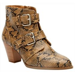 Coconuts Womens Helga Snake Print Ankle Boots