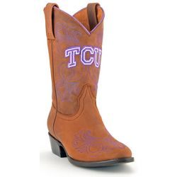 Gameday TCU Horned Frogs Girls Cowboy Boots