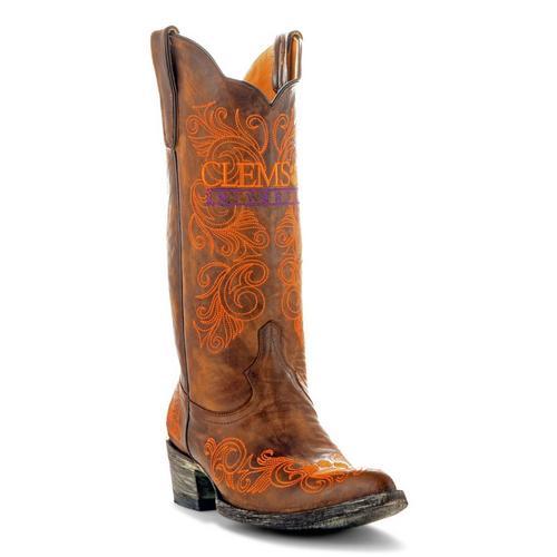 7879b3679da928 Gameday Clemson Tigers Womens Cowboy Boots