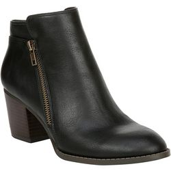 Fergalicious Womens Delta Zippered Ankle Boots