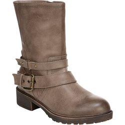 Fergalicious Womens Recall Multi Strap Boots